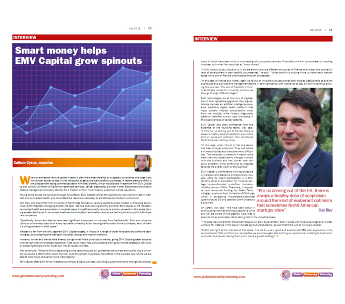 Smart Money helps EMVC grow spinouts